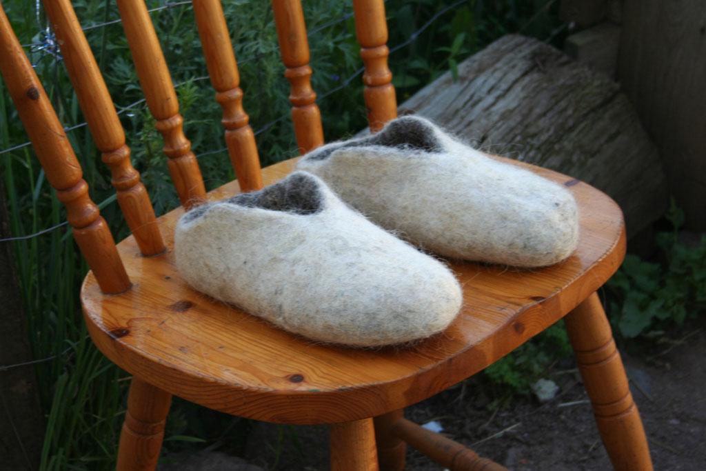 chaussons en laine feutrée
