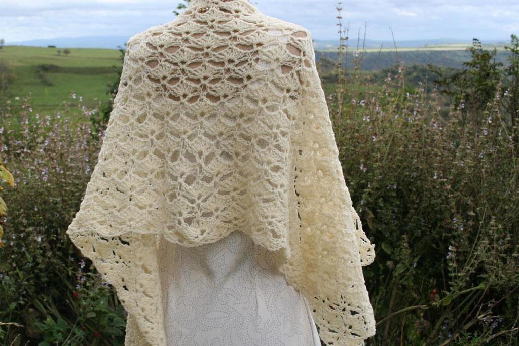 étole vintage en laine