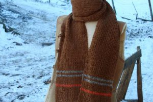 Echarpe teinture de laine naturelle