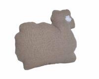 coussin en forme de mouton en laine et lin