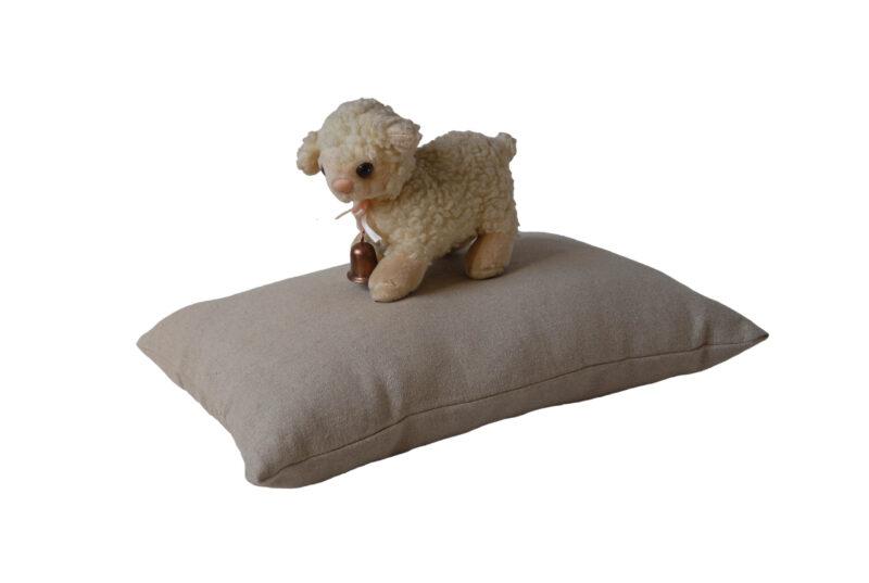 Oreiller bebe 30x40 en laine et lin et mouton