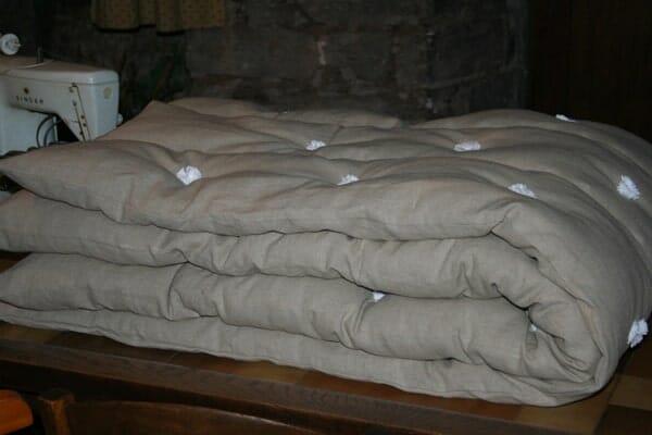 fabrication de la couette en laine