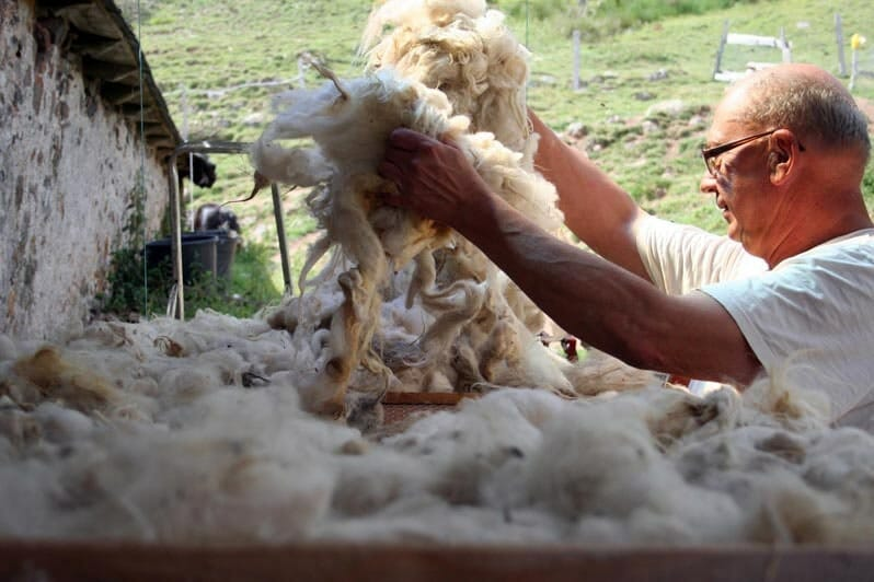 sechage de la laine