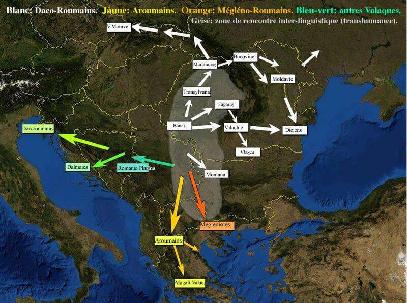 Migration des Valaques avec moutons vers les Carpates