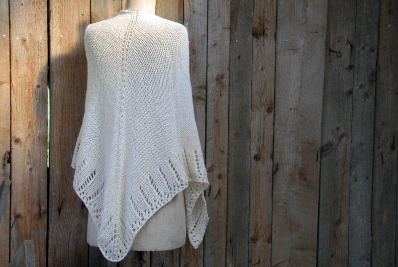 chale mariage boheme tricoté en laine mérinos