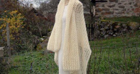 modèle d'étole au tricot gratuit